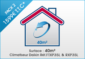 pack climatisation toulouse ARClim 40m²